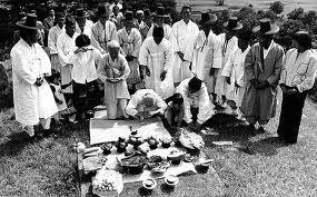 ChuSeok no cemitério
