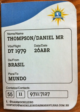 """O seu cartão de visita é um """"boarding pass"""""""