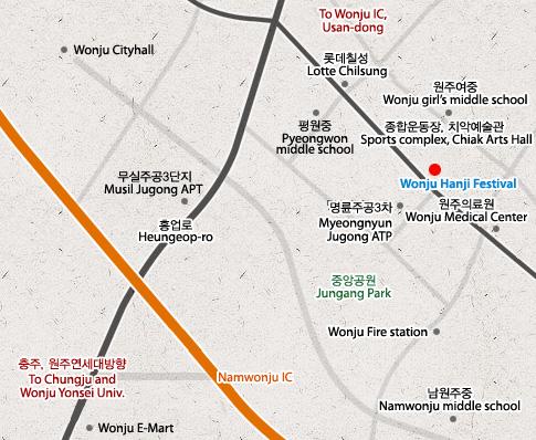 2012 Festival de Hanji - mapa